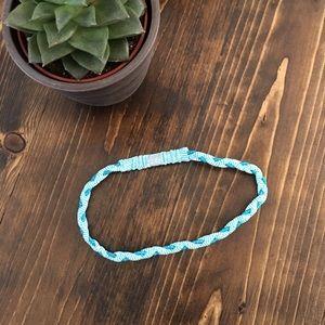🍋 lululemon - skinny headband - braided lightblue
